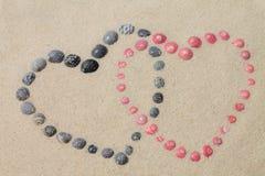 Περιτυλιγμένες καρδιές Στοκ εικόνα με δικαίωμα ελεύθερης χρήσης