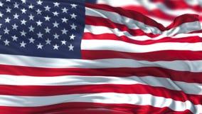Περιτυλιγμένη ζωτικότητα σημαιών 4K απόθεμα βίντεο