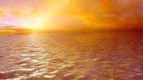 Περιτυλιγμένο ηλιοβασίλεμα θάλασσας υποβάθρου, HD απεικόνιση αποθεμάτων