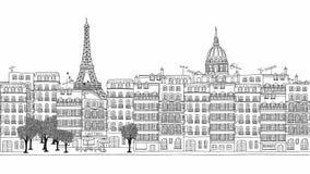 Περιτυλιγμένο συρμένο χέρι μήκος σε πόδηα του Παρισιού