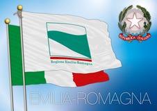 Περιφερειακή σημαία της Αιμιλίας-Ρωμανίας (Ιταλία) Στοκ εικόνες με δικαίωμα ελεύθερης χρήσης