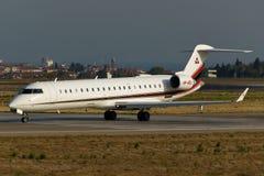 Περιφερειακό αεριωθούμενο αεροπλάνο Canadair CL-600-2C10 Στοκ Εικόνες