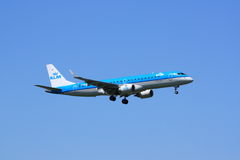 Περιφερειακό αεριωθούμενο αεροπλάνο KLM Στοκ Εικόνα