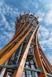 Περιφερειακό πάρκο Meteliai, πύργος παρατήρησης, Λιθουανία στοκ εικόνα με δικαίωμα ελεύθερης χρήσης