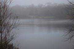 Περιφερειακό πάρκο Riverfront - είναι ακριβώς πρακτικά δυτικά Windsor και από το κλασικό τοπίο χώρας κρασιού Χειμώνας Στοκ εικόνα με δικαίωμα ελεύθερης χρήσης