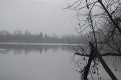 Περιφερειακό πάρκο Riverfront - είναι ακριβώς πρακτικά δυτικά Windsor και από το κλασικό τοπίο χώρας κρασιού Χειμώνας Στοκ Εικόνες
