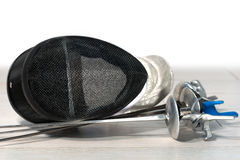Περιφράζοντας εξοπλισμός φύλλων αλουμινίου - εκλεκτική εστίαση στοκ εικόνα με δικαίωμα ελεύθερης χρήσης