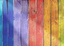 περιφράξτε τους θερινούς ηλίανθους λιβαδιών ξύλινους Στοκ φωτογραφία με δικαίωμα ελεύθερης χρήσης