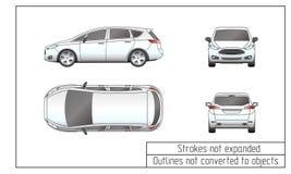 Περιλήψεις αυτοκινήτων van drawing που δεν μετατρέπονται στα αντικείμενα Στοκ εικόνα με δικαίωμα ελεύθερης χρήσης