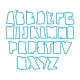 Περιλήψεων γράμματα που απομονώνονται κεφαλαία στο λευκό Στοκ εικόνες με δικαίωμα ελεύθερης χρήσης