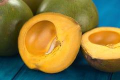 Περουβιανά φρούτα αποκαλούμενα Lucuma στοκ φωτογραφία