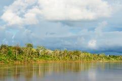 περουβιανός ποταμός τοπίων amazonas maranon Στοκ εικόνα με δικαίωμα ελεύθερης χρήσης