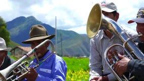 Περουβιανό παραδοσιακό φεστιβάλ λαογραφίας στην περιοχή Cusco απόθεμα βίντεο