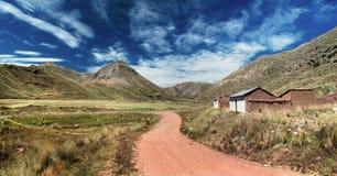 Περουβιανό τοπίο κοντά στο SAN Anton, νότιο Περού Στοκ Εικόνα