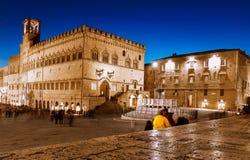 Περούτζια, Ιταλία - 9 Δεκεμβρίου 2017: Κεντρικός στοκ εικόνα με δικαίωμα ελεύθερης χρήσης