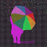 περπάτημα βροχής ελεύθερη απεικόνιση δικαιώματος