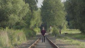 περπάτημα διαδρομών απόθεμα βίντεο