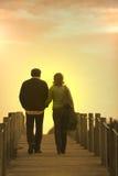 περπάτημα ζευγών στοκ εικόνες με δικαίωμα ελεύθερης χρήσης