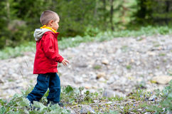 περπάτημα κατσικιών Στοκ Φωτογραφίες