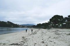 Περπάτημα μέσω της παραλίας στοκ φωτογραφίες