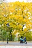 Περπάτημα μέσω της πόλης φθινοπώρου Στοκ Φωτογραφίες
