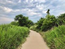 Περπάτημα μια νεφελώδη ημέρα στοκ φωτογραφία με δικαίωμα ελεύθερης χρήσης
