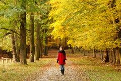 περπάτημα πάρκων φθινοπώρο&upsil Στοκ Φωτογραφία