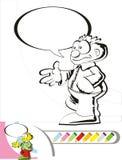 περπάτημα σκίτσων ατόμων χρωματισμού βιβλίων Στοκ φωτογραφία με δικαίωμα ελεύθερης χρήσης