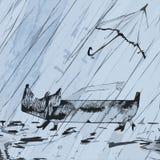Περπάτημα στο άσχημο καιρό Στοκ Φωτογραφίες