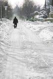 Περπάτημα στο χιόνι Στοκ εικόνα με δικαίωμα ελεύθερης χρήσης