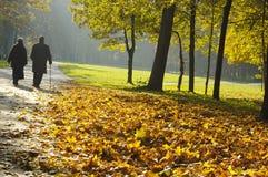 περπάτημα συνταξιούχων Στοκ φωτογραφία με δικαίωμα ελεύθερης χρήσης