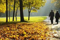 περπάτημα συνταξιούχων Στοκ Εικόνα