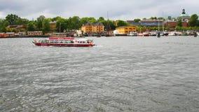 Περπάτημα της βάρκας στον κόλπο Στοκχόλμη, Σουηδία φιλμ μικρού μήκους