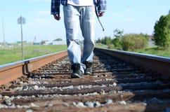 Περπάτημα του σιδηροδρόμου Στοκ Εικόνα