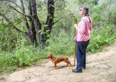 Περπάτημα Grandma στοκ εικόνα με δικαίωμα ελεύθερης χρήσης