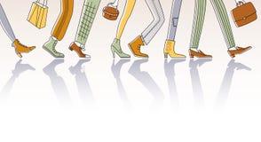 Περπατώντας άνθρωποι Στοκ Εικόνα