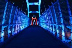 Περπατώντας γέφυρα Στοκ Φωτογραφίες