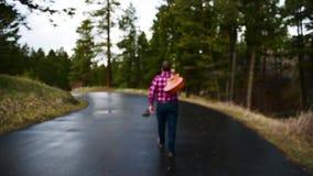 Περπατώντας κιθαρίστας απόθεμα βίντεο