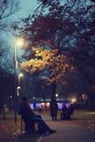 περπατώντας νεολαίες πάρκων ζευγών Στοκ Φωτογραφίες