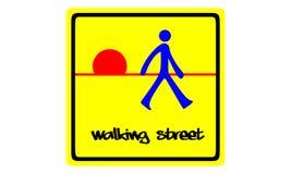 Περπατώντας οδός Στοκ εικόνα με δικαίωμα ελεύθερης χρήσης