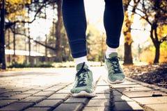 Περπατώντας snickers Επανδρώνει τα πόδια Μόνο πόδια στοκ εικόνα