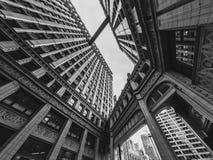 Περπατώ το skywalk στο Σικάγο στοκ φωτογραφία με δικαίωμα ελεύθερης χρήσης