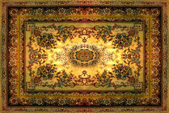 Περσική σύσταση ταπήτων, αφηρημένη διακόσμηση Στρογγυλό σχέδιο mandala, Μεσο-Ανατολική παραδοσιακή σύσταση υφάσματος ταπήτων Τυρκ Στοκ Φωτογραφία