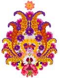 Περσικό στοιχείο κουβερτών - λουλούδι του ροδιού Στοκ Εικόνα