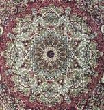 Περσικό σχέδιο κουβερτών ύφους - κυκλικό κόκκινο χαλί Στοκ εικόνα με δικαίωμα ελεύθερης χρήσης