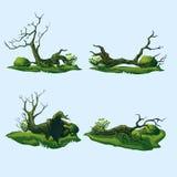 Πεσμένα δέντρα με μια κυρτή κορώνα απεικόνιση αποθεμάτων