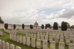 Πεσμένος νεκροταφείο Πρώτος Παγκόσμιος Πόλεμος Φλαμανδική περιοχή Βέλγιο στρατιωτών Στοκ Εικόνες