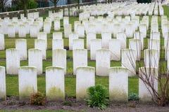 Πεσμένος νεκροταφείο Πρώτος Παγκόσμιος Πόλεμος Φλαμανδική περιοχή Βέλγιο στρατιωτών Στοκ φωτογραφίες με δικαίωμα ελεύθερης χρήσης