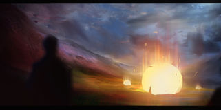 Πεσμένο απεικόνιση αστέρι φαντασίας Στοκ Φωτογραφία