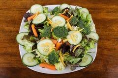 Πεταγμένη σαλάτα με τα φρέσκα λαχανικά Στοκ εικόνες με δικαίωμα ελεύθερης χρήσης